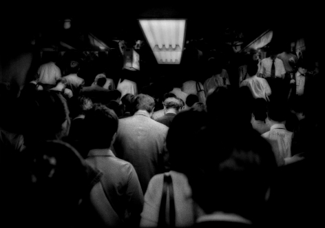 James Whitlow Delano, Mangaland, Relentless flow of Tokyo commuters up from the subway, Japan, 2005, Sous Les Etoiles Gallery