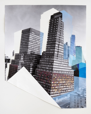 Julie Boserup, Fold,750 3rd Avenue from 46th to 47th Street, west side. (building, view to show windows) from the Wurts Bros. Collection at the Museum of the City of New York Sous Les Etoiles Gallery