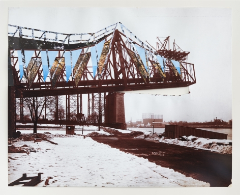 Julie Boserup, Queensboro Bridge Under Construction; from the Byron Company Collection at the Museum of the City of New York