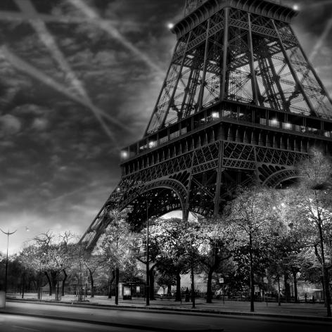 Jean-Michel Berts, The Light of Paris, Tour Eiffel, Eiffel Tower, Sous Les Etoiles Gallery