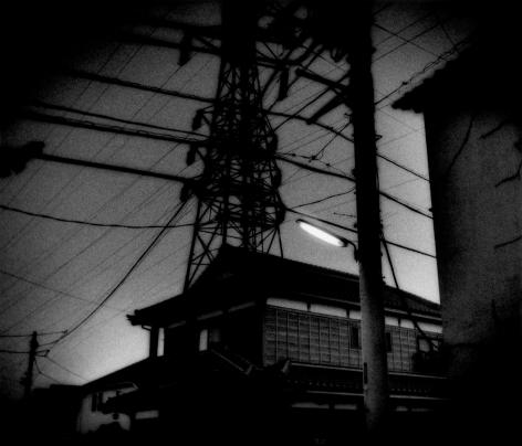 James Whitlow Delano, Mangaland, Traditional home beneath high power voltage lines, Seigo, Japan, 2004, Sous Les Etoiles Gallery