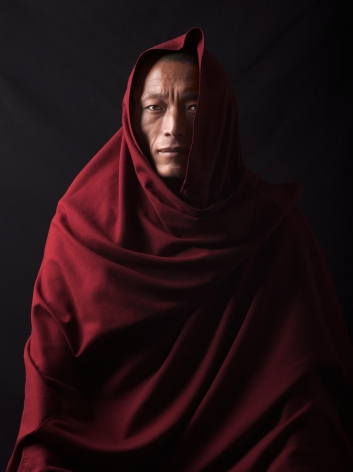 David Zimmerman, One Voice, Portrait of monk Tenzin Galtsen, 2012, Sous Les Etoiles Gallery