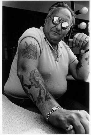 Sous Les Etoiles Gallery, Man Showing Tattooed Arm, Harvey Stein, Coney Island