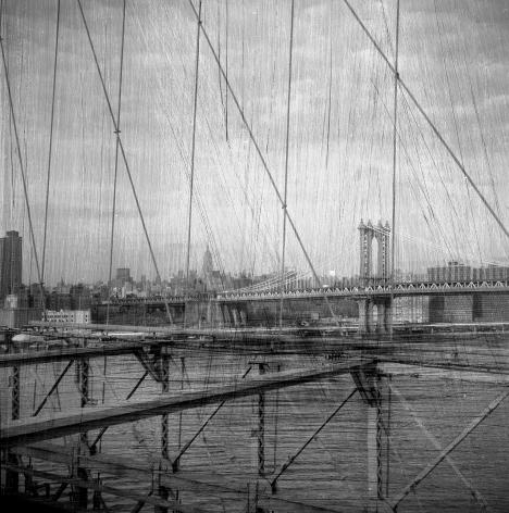 Bruno Bertrand-Frezoul, Scratching New York,  Brooklyn bridge, 2005, Sous Les Etoiles Gallery