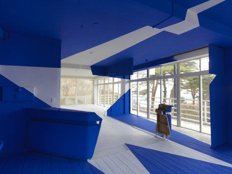 View of Georges Rousse installation - Matsushima Japan 2010