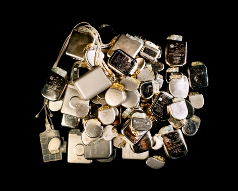 Reiner Riedler, Livesaving Machines, Used Pacemakers, 2012, Sous Les Etoiles Gallery