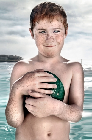 Matt Hoyle, Icebergs, Boy with Ball, 2003, Sous Les Etoiles Gallery
