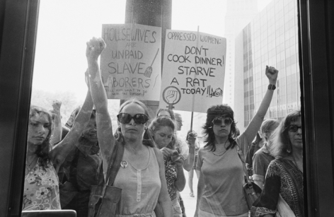 Jean-Pierre Laffont, Women Equality March,  103 1st, NYC, 1970, New York