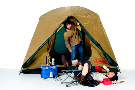 Breezeless, Takemi Saito, A picture book of a girl falling down, Camping, 2010, Sous Les Etoiles Gallery