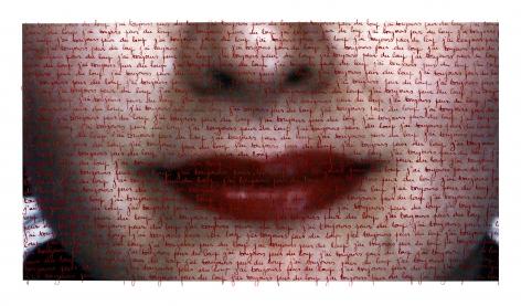 Carolle Bénitah, What cannot be said (Ce qu'on ne peut pas dire), j'ai toujours peur du loup (I am always afraid of the wolf), 2013, Sous Les Etoiles Gallery