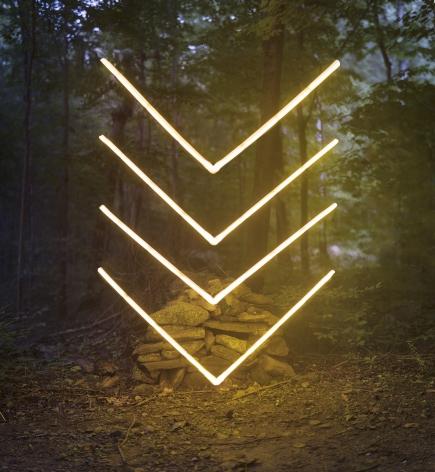 Barry Underwood, light, landscape, Linear Construction, Sous Les Etoiles Gallery