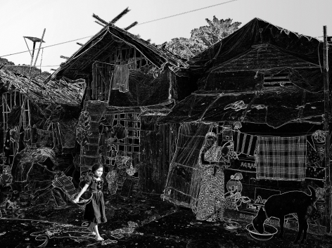 Wolfram Ruoff, Pure Lines, Kolkata Girl, 2007, Sous Les Etoiles Gallery