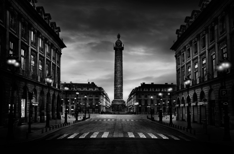 Jean-Michel Berts, The Light of Paris, Place Vendome, 2005, Sous Les Etoiles Gallery