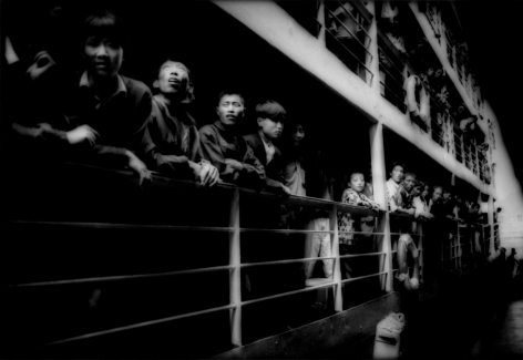 James Whitlow Delano, Empire, Impressions from China, Peasants crowding the rails of a river steamer, Three Gorges, Yangtze River, China, 1997, Sous Les Etoiles Gallery