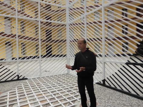Details of Georges Rousse installation - Familistere de Guise, France 2015