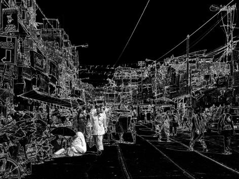Wolfram Ruoff, Pure Lines, Kolkata Road, 2007, Sous Les Etoiles Gallery