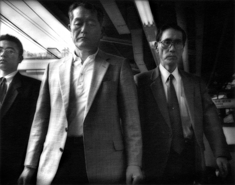 James Whitlow Delano, Mangaland, Salarimen, Yamanote Line, Shinjuko, Tokyo, Japan, 1996, Sous Les Etoiles Gallery