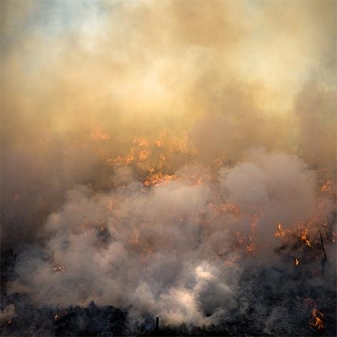 Jane Fulton Alt, Burn No. 49, 2009,  fire, landscape, Sous Les Etoiles Gallery