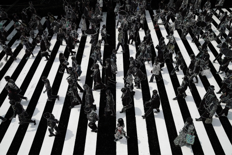 Wolfram Ruoff, Pure Lines, Tokyo Crossing, Sous Les Etoiles Gallery