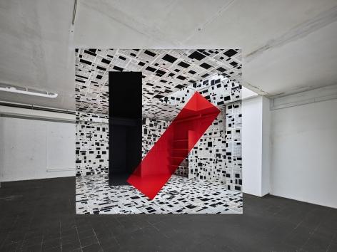 Georges Rousse, anamorphose, architecture, color, Tüttlingen, France, Sous Les Etoiles Gallery