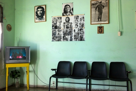 Magdalena Solé, Cuba - Hasta Siempre (Cuba Forever), Waiting Room at Bus Station, Trinidad, 2011, Sous Les Etoiles Gallery