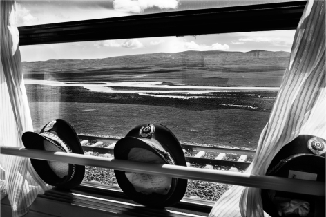 Laurent Zylberman, A Journey in Tibet, Hats of Chinese officials aboard the T-27 train, 2008, Sous Les Etoiles Gallery