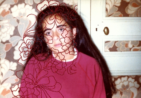 Carolle Bénitah, Photos-Souvenirs, Adolescence, la tapisserie (the tapestry), 2012, Sous Les Etoiles Gallery