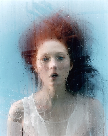 Sophie Delaporte, Early Fashion Work, Woman behind glass with condensation, Sous Les Etoiles Gallery