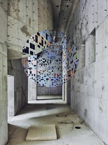 Georges Rousse, anamorphose, architecture, Seoul, France, Sous Les Etoiles Gallery
