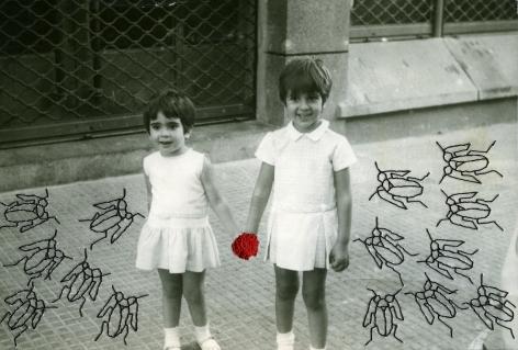 Carolle Bénitah, Photos-Souvenirs, Enfance, les cafards (the cockroaches), 2009, Sous Les Etoiles Gallery