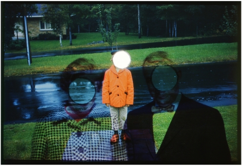 Robin Cracknell, family, 2013, Childhood,  parents, orange, Sous Les Etoiles Gallery, New York