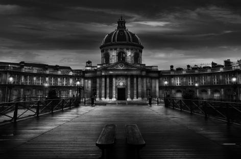 Pont des Arts, Quai Conti, Paris, France, Institut Francais, Jean-Michel Berts