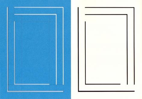 Richard Caldicott, photogram, paper negative, unique, Sous Les Etoiles Gallery, blue, 2015