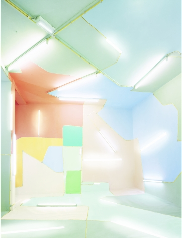 Marleen sleeuwits, interior, construction,  architecture, space, Sous Les Etoiles Gallery, New York