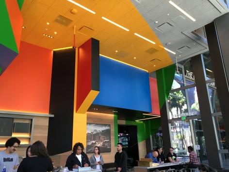 Details of Georges Rousse permanent installation - Las Vegas Cosmopolitan Hotel 2016