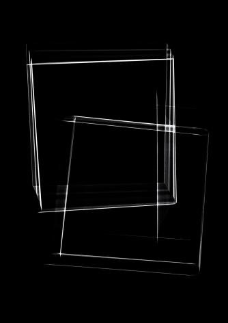 Luuk de Haan, waarschijnlijkheid 5, black, unique, abstraction, Sous Les Etoiles Gallery, New York