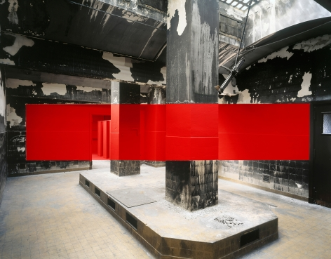Georges Rousse, Marseille Rouge, 2011, Sous Les Etoiles Gallery