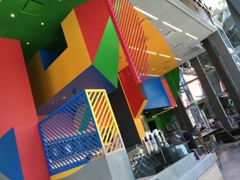 Details of Georges Rousse permanent installation - Cosmopolitan Hote, Las Vegas l 2016