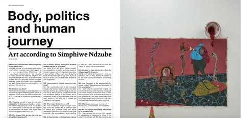 Simphiwe Ndzube featured in Zoo Magazine