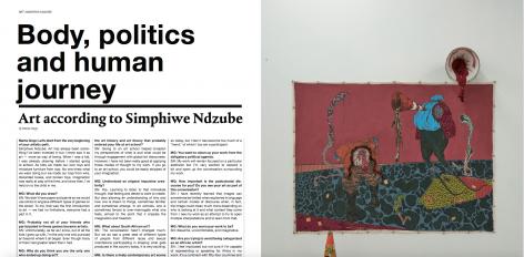 Simphiwe Ndzube featured in Zoo Magazine