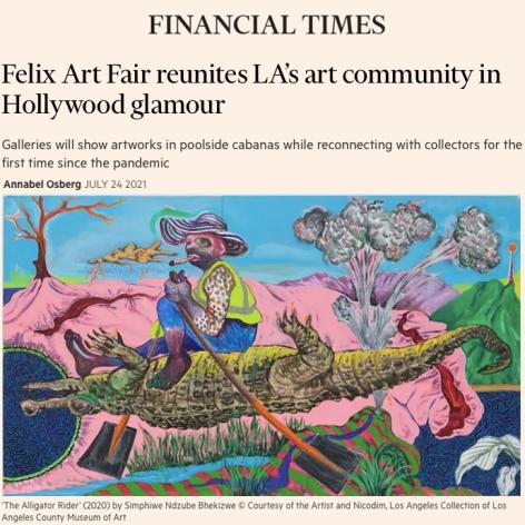 Felix Art Fair Reunites LA's Art Community in Hollywood Glamour