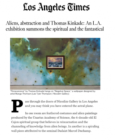 Aliens, abstraction and Thomas Kinkade: An L.A. exhibition summons the spiritual and the fantastical