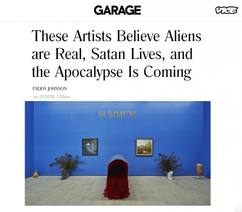 The Basilisk featured in Garage's 'These Artists Believe Aliens are Real, Satan Lives, and the Apocalypse Is Coming'