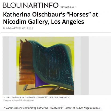 Katherina Olschbaur: Horses in BlouinArtInfo