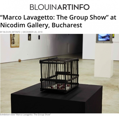 Marco Lavagetto: The Group Show in BlouinArtInfo