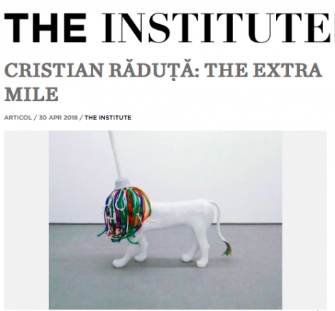 Cristian Răduță: The Extra Mile featured in The Institute