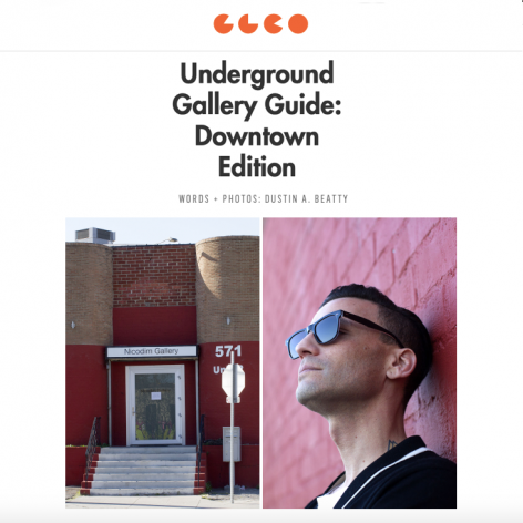 Nicodim Gallery featured in the 'Underground Gallery Guide' to Downtown Los Angeles
