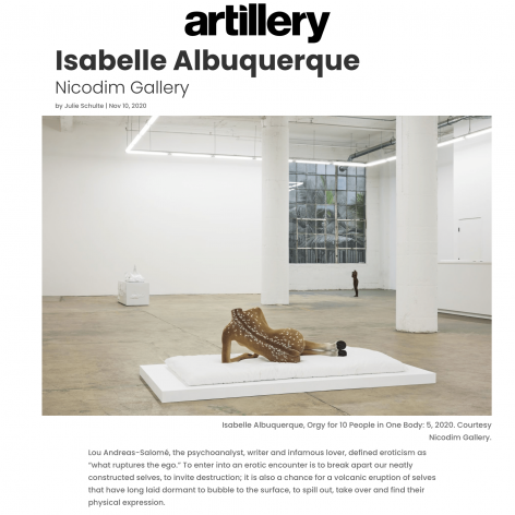 Review: Isabelle Albuquerque at Nicodim