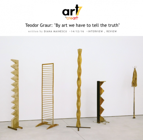 Teodor Graur interviewed by Diana Mainescu for Art7