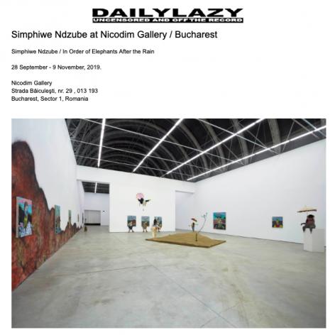 Simphiwe Ndzube at Galeria Nicodim